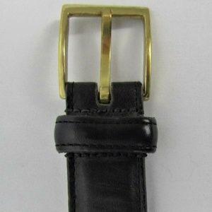 "Dooney and Bourke Black 34"" Glove Leather  Belt"
